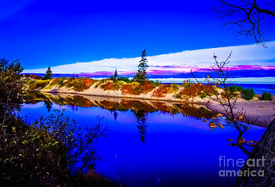 Pop Art Rights Managed Images - Mouth of the Two Hearted river Royalty-Free Image by Optical Playground By MP Ray