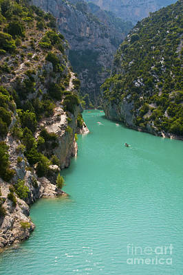 Mouth Of The Verdon River  Art Print by Bob Phillips