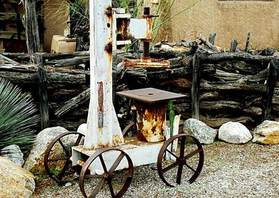 Photograph - Moveable Semi Industrial Press by Jayne Kerr