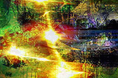 Painting - Movement Through Sunlight - Garden Light by Marie Jamieson