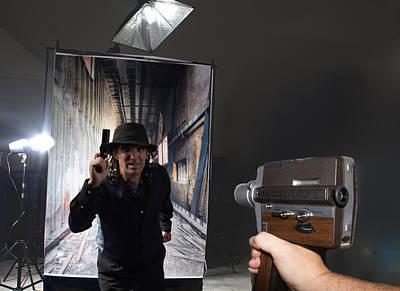 Movies Star Paintings - Movie Camera by Michael  Podesta