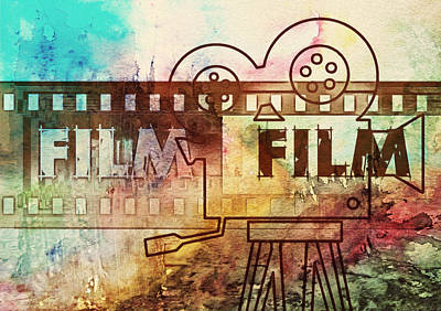 Green Mixed Media - Movie Classics Vintage by Georgiana Romanovna
