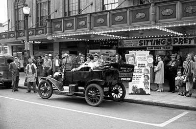 Movie Premiere Vancouver  1948 Art Print by Daniel Hagerman