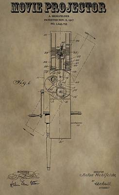 Reel Mixed Media - Movie Projector Patent by Dan Sproul