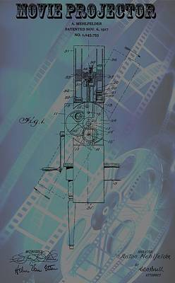 Reel Mixed Media - Movie Projector Poster by Dan Sproul