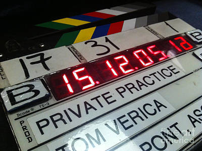 Wall Art - Photograph - Movie Slate From Private Parctice by Micah May