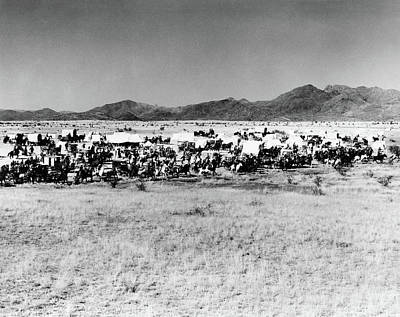 Conestoga Photograph - Movie Still Of The Starting Line by Vintage Images