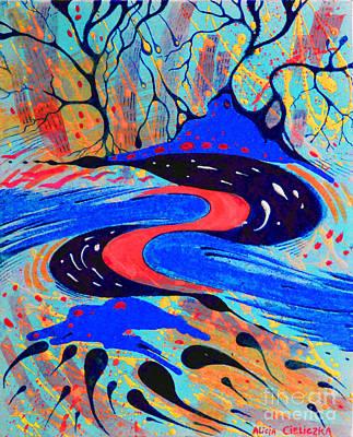 Painting - Movimento by Alice Alicja Cieliczka