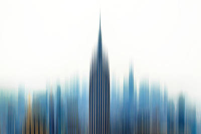 Abstract Skyline Photograph - Moving An Empire by Az Jackson