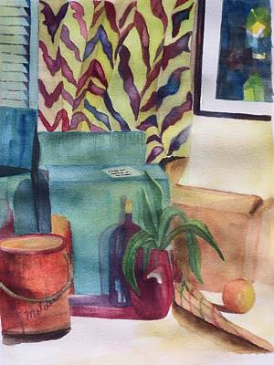Box Wine Painting - Moving Day by Judy Melcher