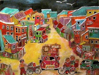 Litvack Painting - Moving Day July by Michael Litvack