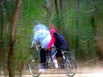 Photograph - Moving Fast On A Bicycle Built For Two by Renee Trenholm