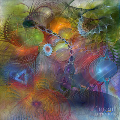 Digital Art - Moving Forward - Square Version by John Beck