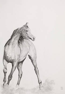 Horse Images Painting - Moving Image by Emma Kennaway