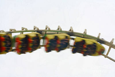 Photograph - Moving Roller Coaster by Susan Stevenson