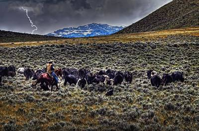 Photograph - Moving The Herd by Ken Smith