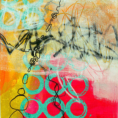 Grid Painting - Moving Through 2 by Jane Davies