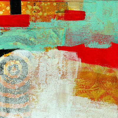 Grid Painting - Moving Through 24 by Jane Davies