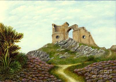 Mow-cop Painting - Mow Cop Castle by Nasar Khan