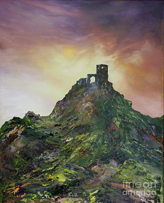 Cop Painting - Mow Cop Folly  Cheshire by Jean Walker