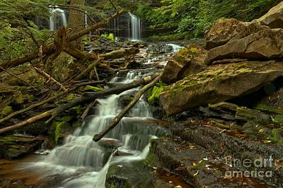 Mowhawk Falls Cascades Art Print by Adam Jewell