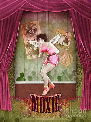 Pin Digital Art - Moxie by Aimee Stewart