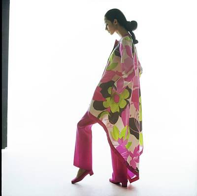 Photograph - Moyra Swan Wearing Venet Pajamas by Bert Stern