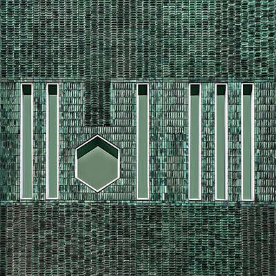 Mosaic Wall Art - Photograph - Moza Wall by Gilbert Claes