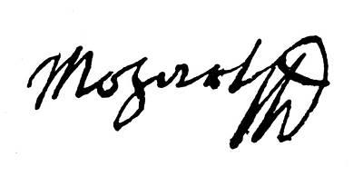 Autographs Painting - Mozart Autograph by Granger