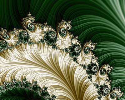Baroque Digital Art - Mozart's Feathers - Horizontal by Mary Machare