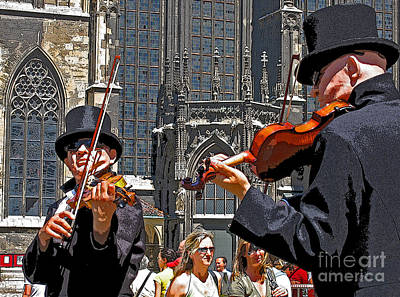 Art Print featuring the photograph Mozart In Masquerade by Ann Horn