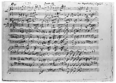 Mozart Quartet In C Major Art Print