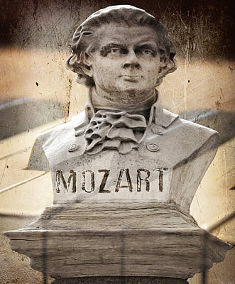 Mozart Art Print by Steven Michael