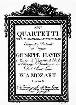 Mozart String Quartets Art Print