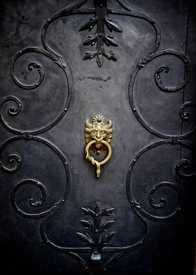 Photograph - Mozart's Doorknocker by Catherine Murton