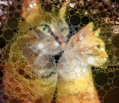 Mixed Media - Mprints - Sheldon And Hobbes 1 by M  Stuart