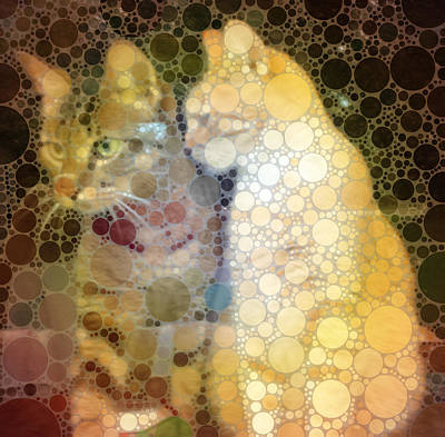 Mixed Media - Mprints - Sheldon And Hobbes 2 by M  Stuart
