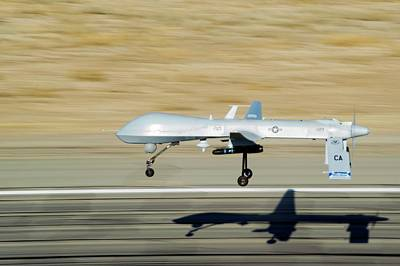 Mq-1 Predator Drone Art Print by Us Air Force/effrain Lopez