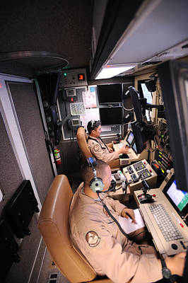 1st Base Photograph - Mq-9 Reaper Ground Control Station by Science Source