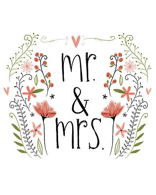 Mr. & Mrs Art Print by Katie Doucette