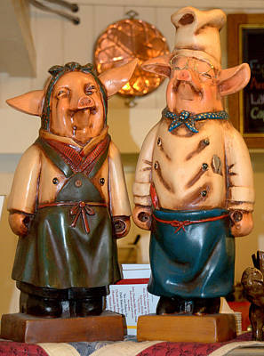 Photograph - Mr And Mrs Piggy by Caroline Stella