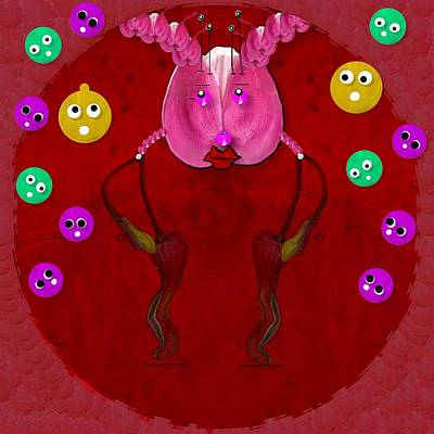 Ant Mixed Media - Mr Ant With Singing Friends by Pepita Selles