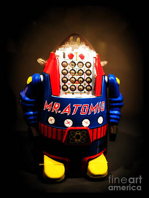 Science Fiction Photograph - Mr. Atomic Tin Robot by Edward Fielding