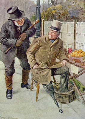 One Leg Photograph - Mr Boffin And Silas Wegg, Illustration For Character Sketches From Dickens Compiled By B.w. Matz by Harold Copping