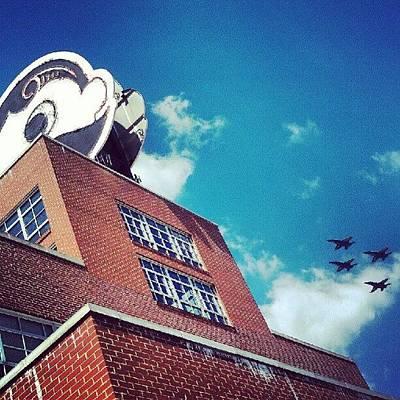 Jet Photograph - Mr. Boh Meets The Blue Angels by Rebecca Kowalczik