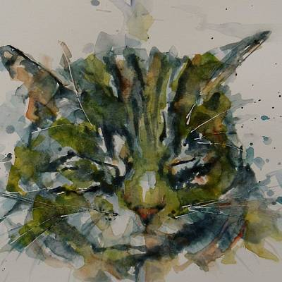 Kitten Painting - Mr Bojangles by Paul Lovering
