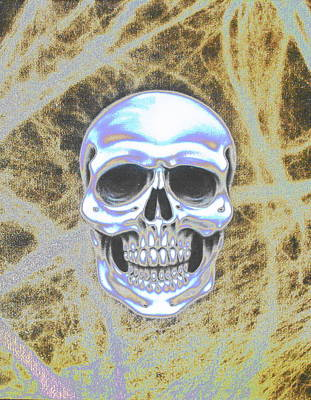 Airbrushed Art Mixed Media - Mr. Bones by Augustine Mattei