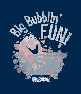 Soap Bubbles Digital Art - Mr Bubble - Big Bubblin Fun by Brand A