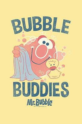 Soap Bubbles Digital Art - Mr Bubble - Bubble Buddies by Brand A