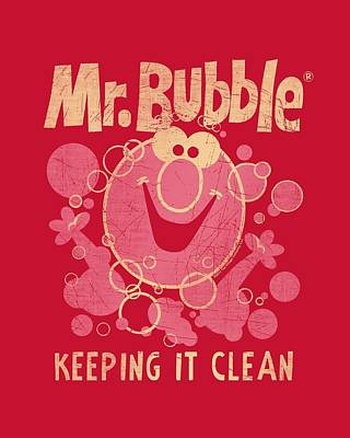 Soap Bubbles Digital Art - Mr Bubble - Keeping It Clean by Brand A